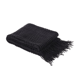 Lightweight Knit Patterned Throw Blanket