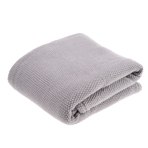Reversible Sherpa & Knitted Throw Blanket