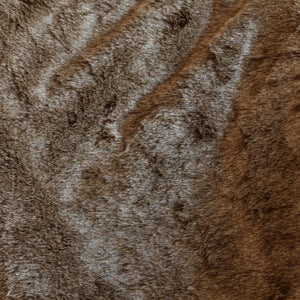 Tip Brown Faux Fur Throw
