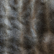 Load image into Gallery viewer, Beige Wolf Faux Fur Throw