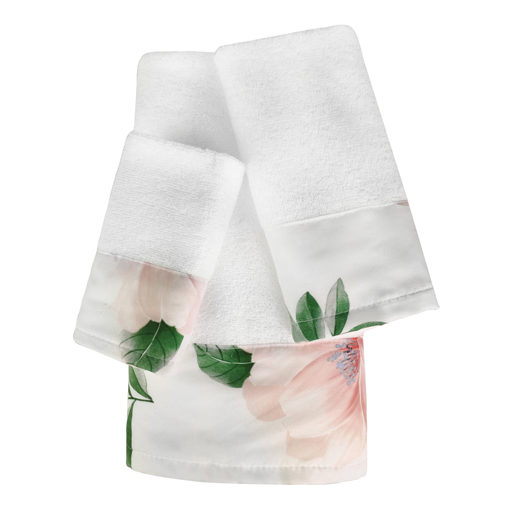 Anya 3pc Cotton Towel Set with Printed Border