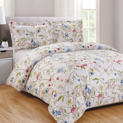 Botanical 3pc Duvet Cover Set