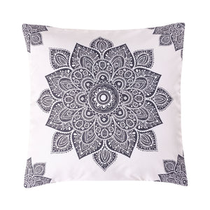 Mandala Grey Printed Cushion