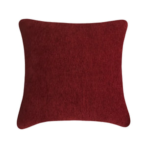 Laquer Red Chenille Cushion
