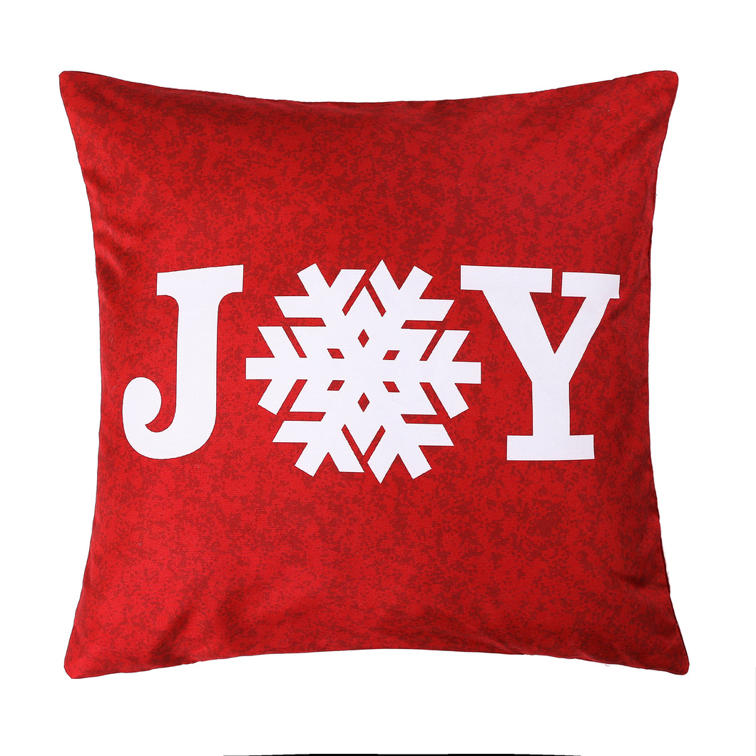 Joy Snowflake Printed Cushion
