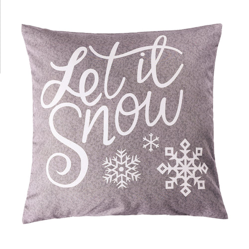 Let It Snow Printed Cushion