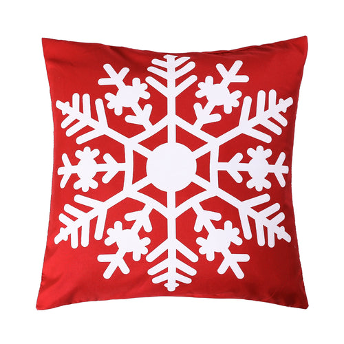Snowflake Printed Cushion