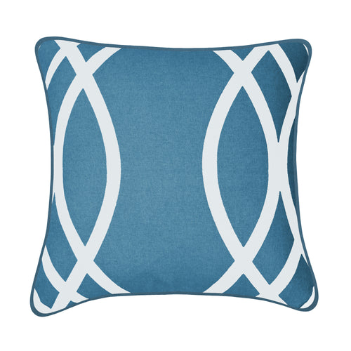 Wilcox Blue Cotton Cushion