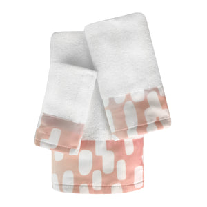 Cascade 3pc Cotton Towel Set with Printed Border