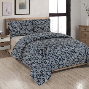 Maddox Printed Duvet Cover Set
