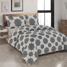Load image into Gallery viewer, Mandala Grey Printed Duvet Cover Set