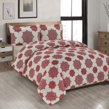 Load image into Gallery viewer, Mandala Red Printed Duvet Cover Set