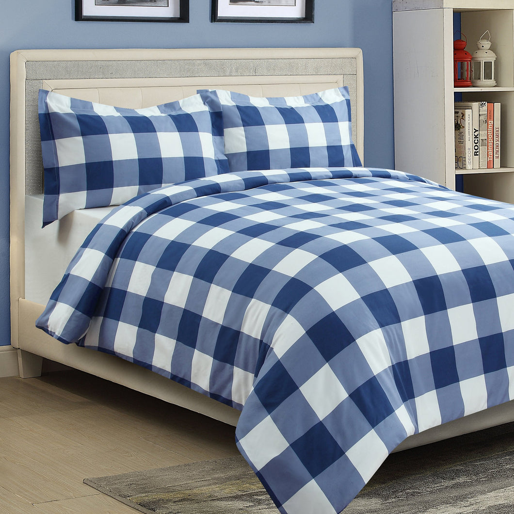 Millano Oxford Navy 3 Piece Duvet Cover Set