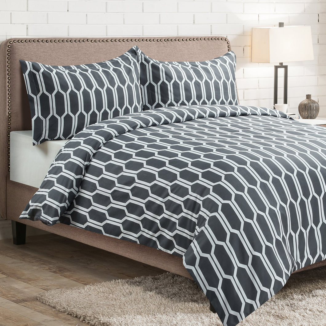 Millano Wilton 3 Piece Duvet Cover Set