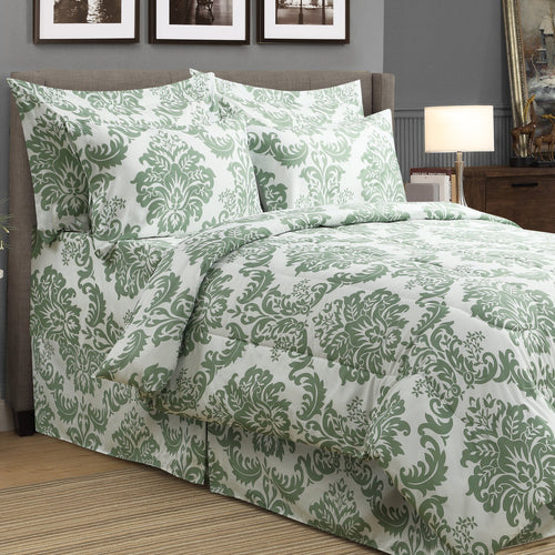 Damask 8pc Bed In A Bag Comforter Set