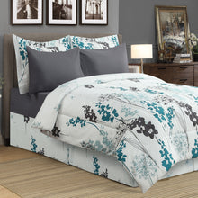 Load image into Gallery viewer, Dahlia 8pc Bed In a Bag Comforter Set