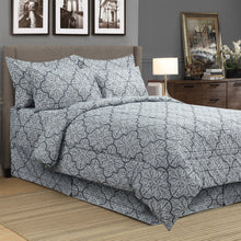 Load image into Gallery viewer, Dynasty Grey 8pc Bed In A Bag Comforter Set