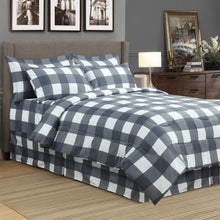 Load image into Gallery viewer, Oxford Grey 8pc Bed In A Bag Comforter Set