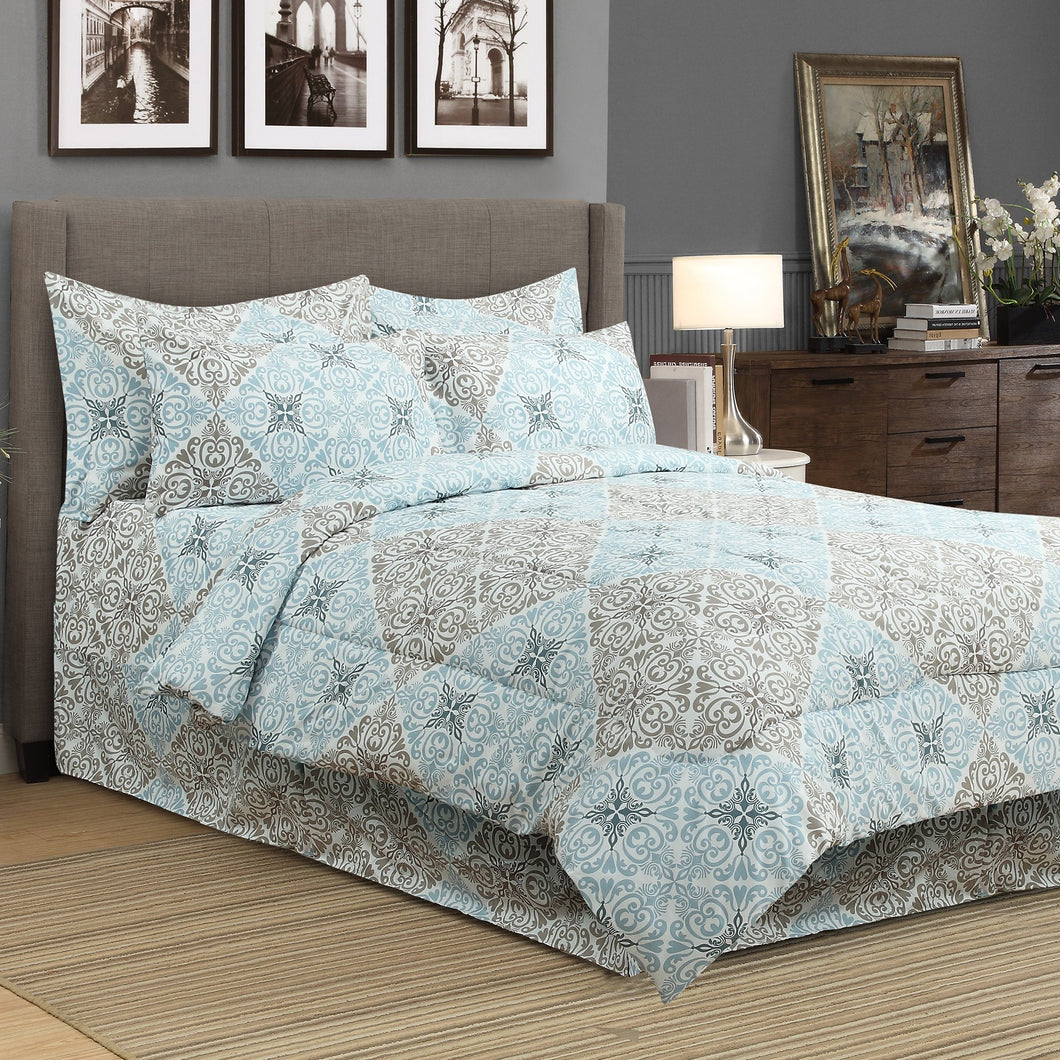 Seville 8pc Bed In A Bag Comforter Set