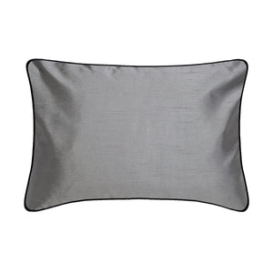 Faux Silk Reversible Boudoir Pillow