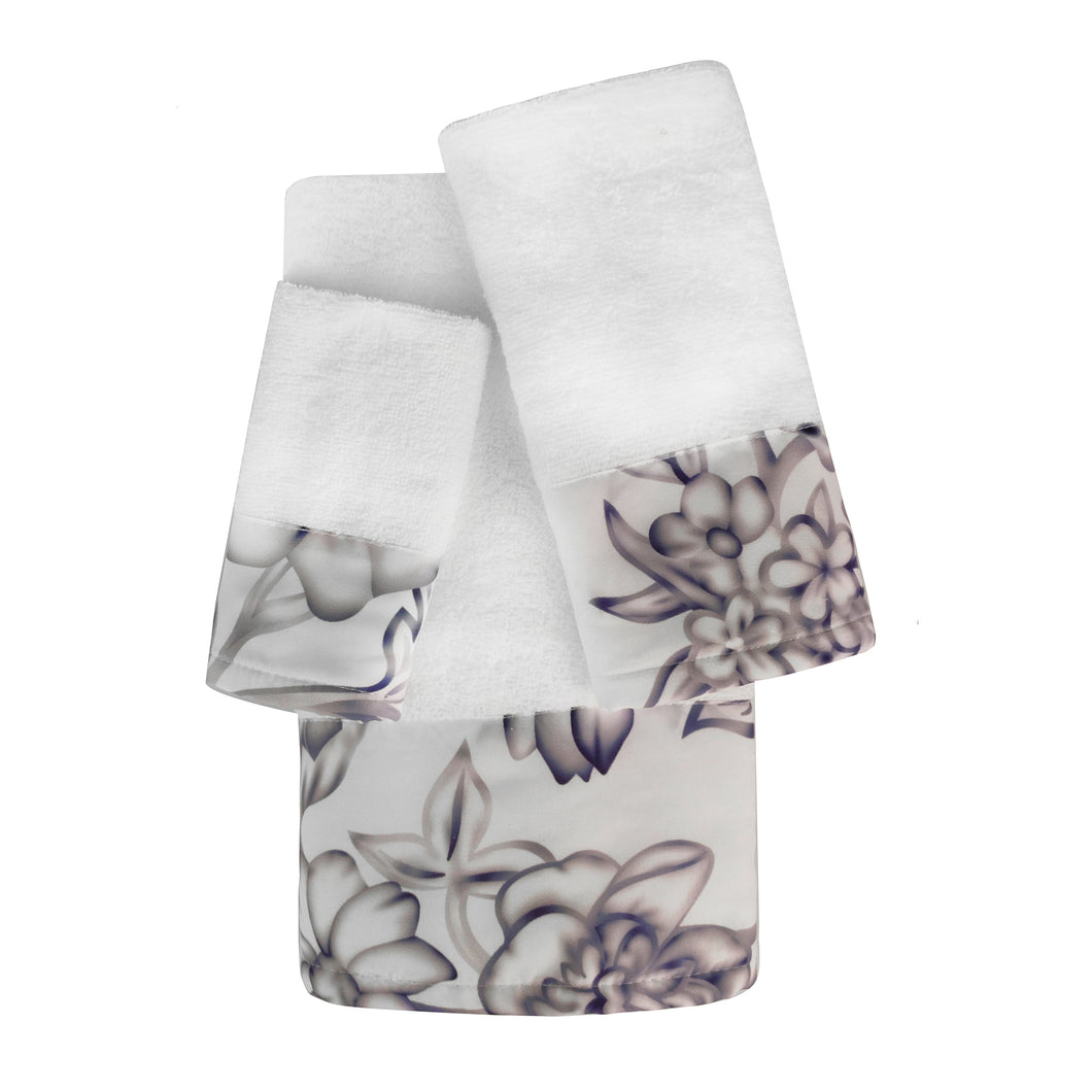 Finley 3pc Cotton Towel Set with Printed Border