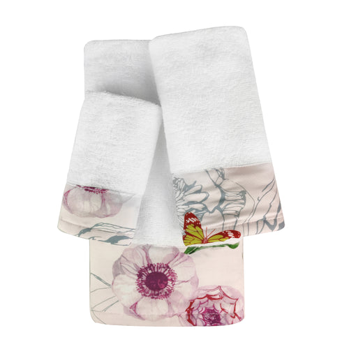 Gardenview 3pc Cotton Towel Set with Printed Border