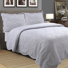 Load image into Gallery viewer, Millano Embossed Stone Wash 3pc Quilt Set