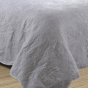 Millano Embossed Stone Wash 3pc Quilt Set