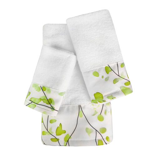 Highgrove 3pc Cotton Towel Set with Printed Border