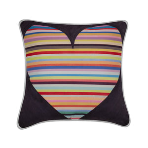 Jess Gorlicky Rainbow Heart Cushion