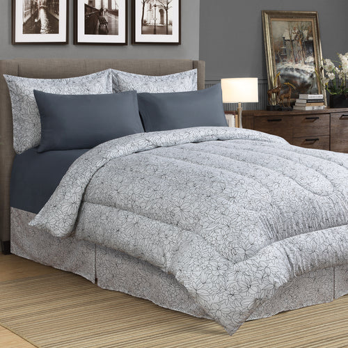 Laurel 8pc Bed In a Bag Comforter Set
