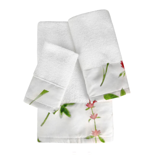 Meadow 3pc Cotton Towel Set with Printed Border