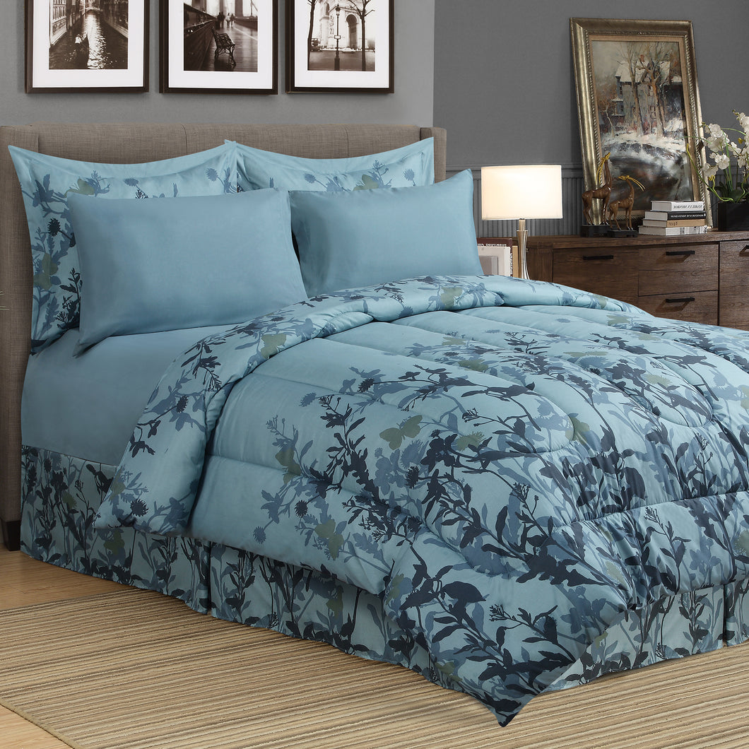 Meadow 8pc Bed In a Bag Comforter Set