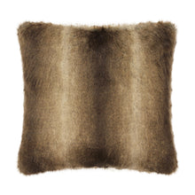 Load image into Gallery viewer, Brown Wolf Faux Fur Cushion