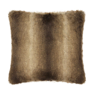 Brown Wolf Faux Fur Cushion
