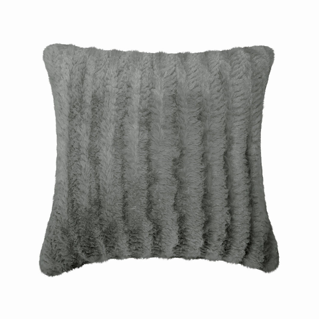 Fun Fur Chevron Cushion