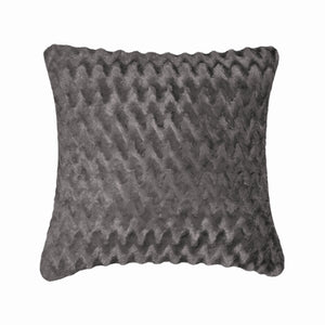 Fun Fur Zig Zag Grey Cushion