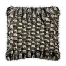 Load image into Gallery viewer, Jacquard Faux Fur Throw Pillow