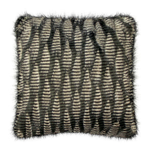 Jacquard Faux Fur Throw Pillow