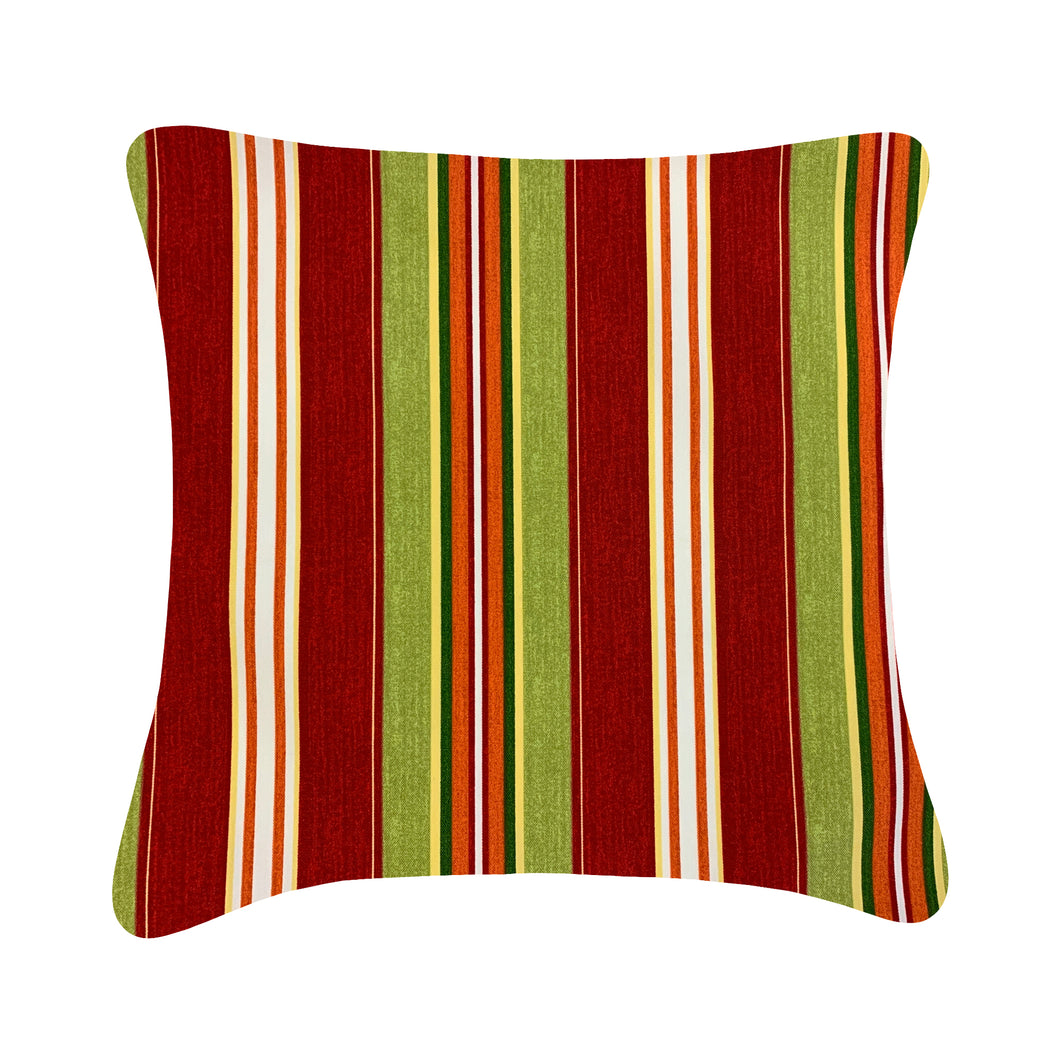 Outdoor Red Stripe Cushion