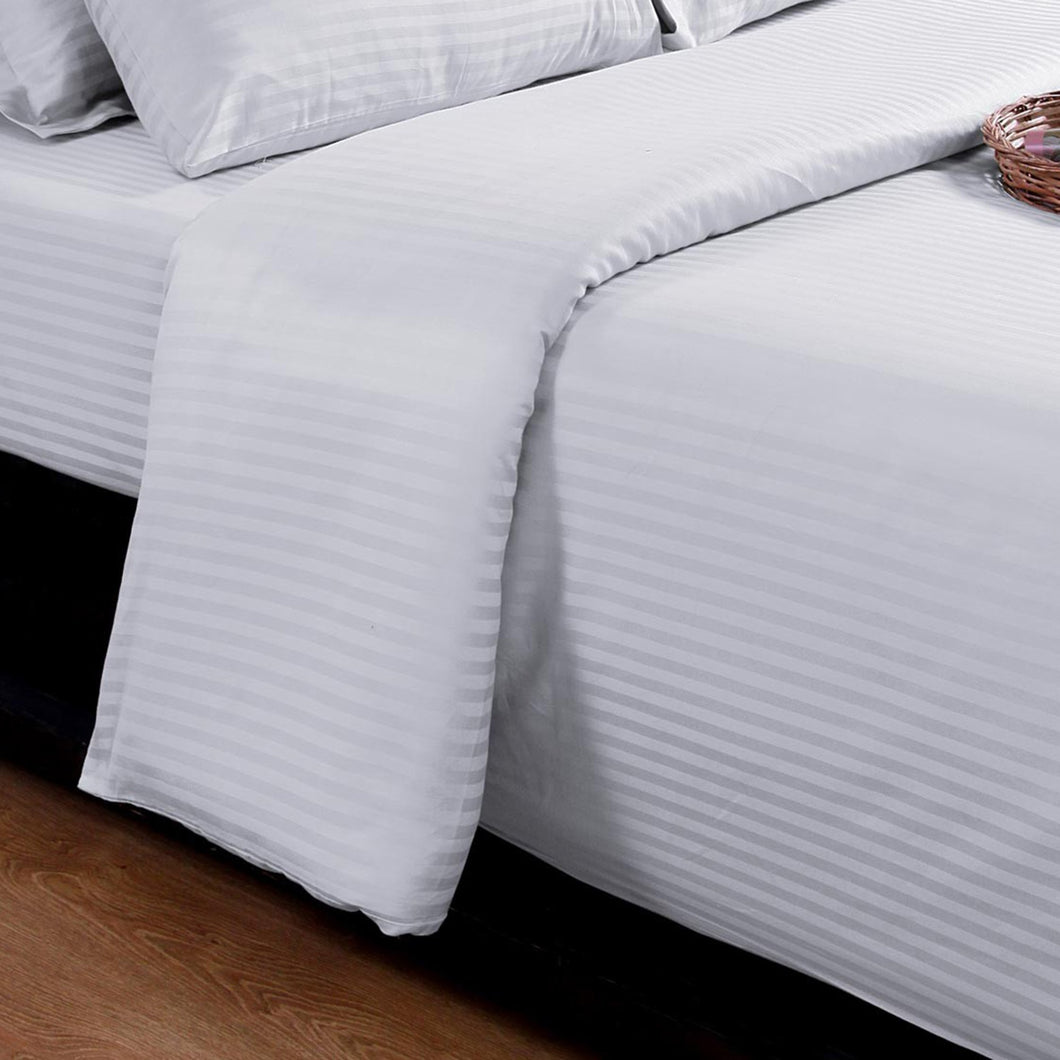 SilverClear 250TC Dobby Stripe Flat Sheet