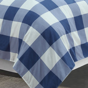 Oxford Navy Printed Sheet Set