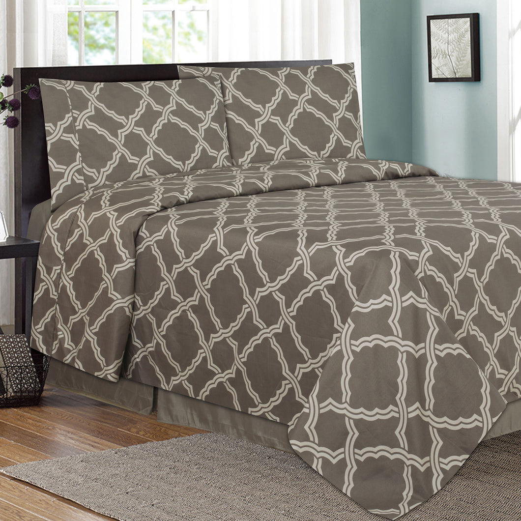 Trellis Printed Sheet Set