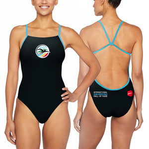 ISHOF Logo Women's One Piece Suit in Black - By Zumo