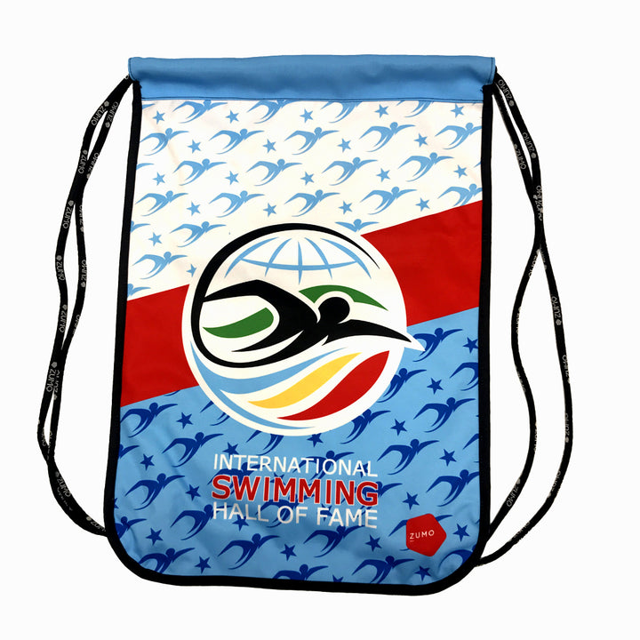 ISHOF Logo Drawstring Backpack in Swimmers Print - By Zumo