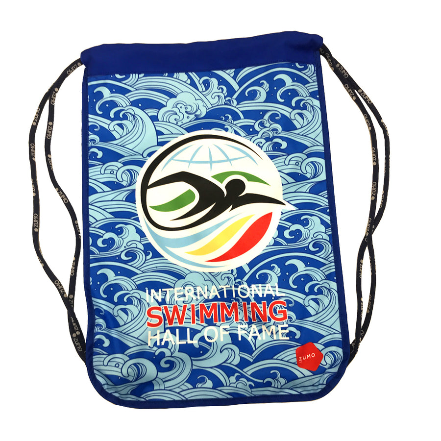 ISHOF Logo Drawstring Backpack in Waves Print - By Zumo
