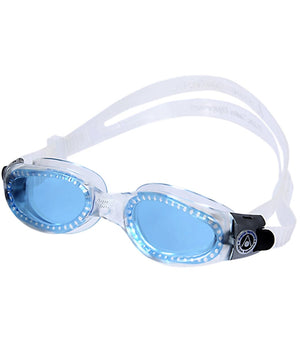 Aqua Sphere Kaiman Goggles - Small Fit Blue ISHOF Swimming Hall of Fame Swimming World