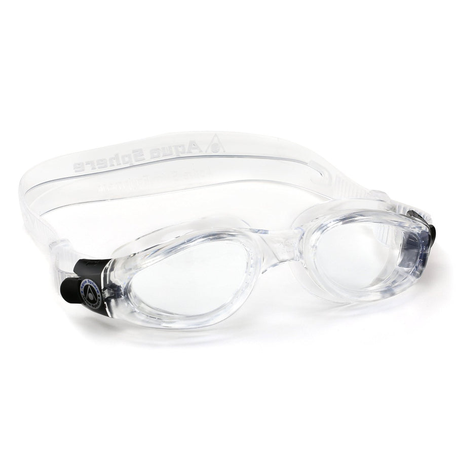 Aqua Sphere Kaiman Goggles - Small Fit Clear  ISHOF Swimming Hall of Fame Swimming World