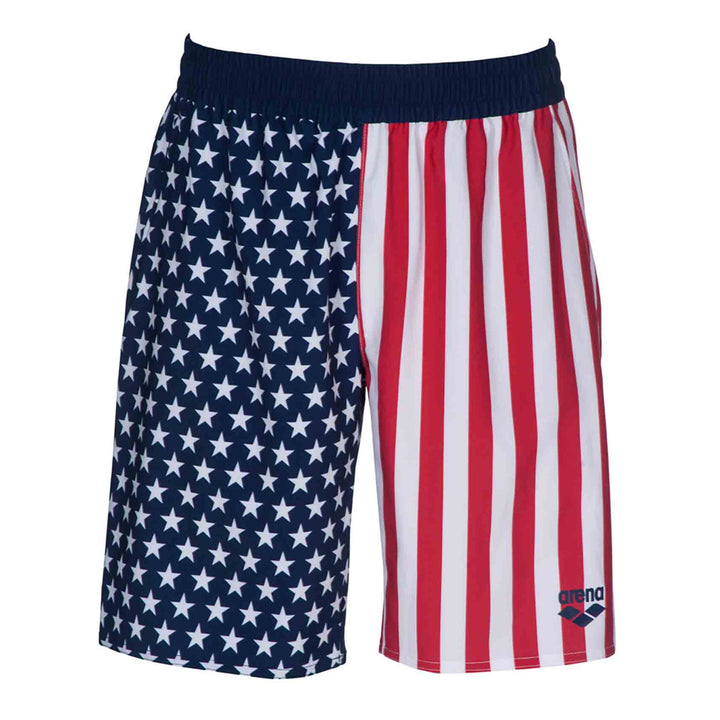 Official USA Swimming National Team Flag Print Bermuda Shorts
