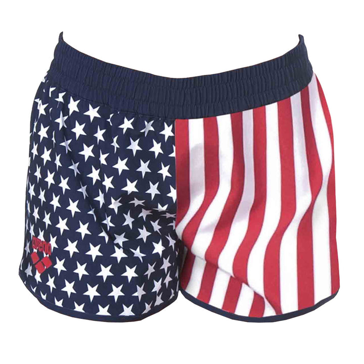 Official USA Swimming National Team Women's Flag Print Shorts